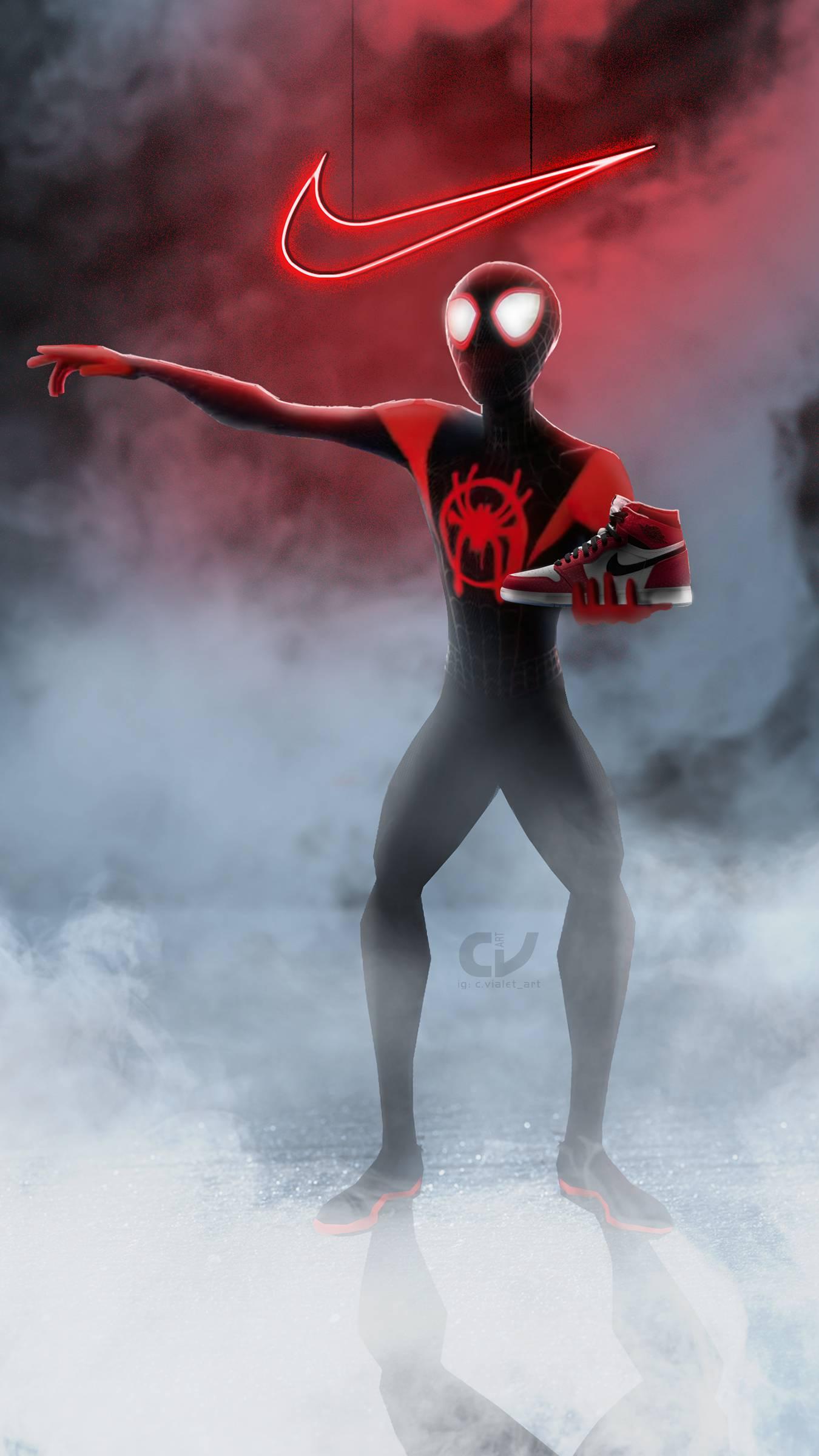 Spiderman Nike iPhone Wallpaper