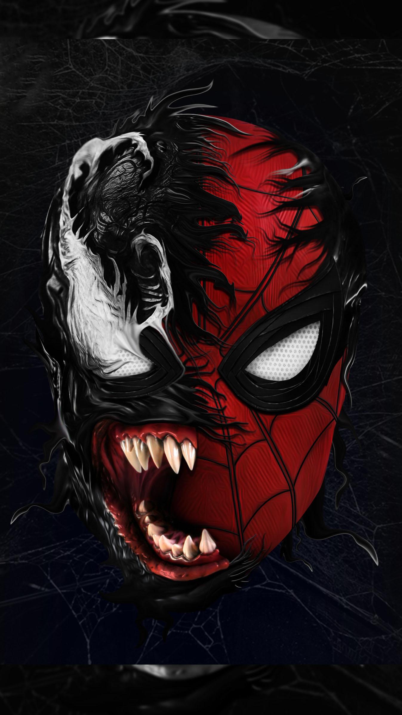 Spidey Venom iPhone Wallpaper