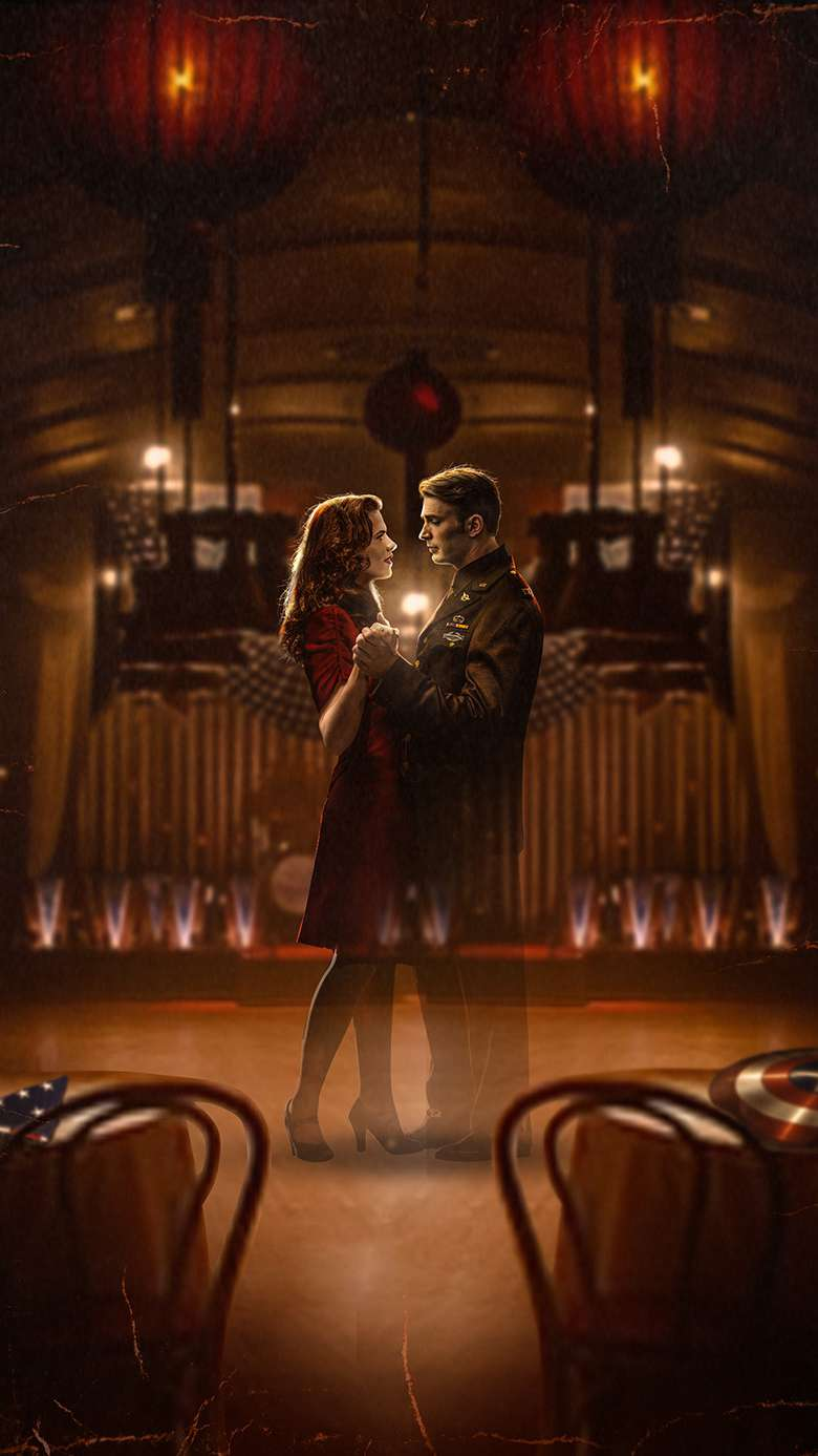 Steve Rogers and Peggy Carter iPhone Wallpaper