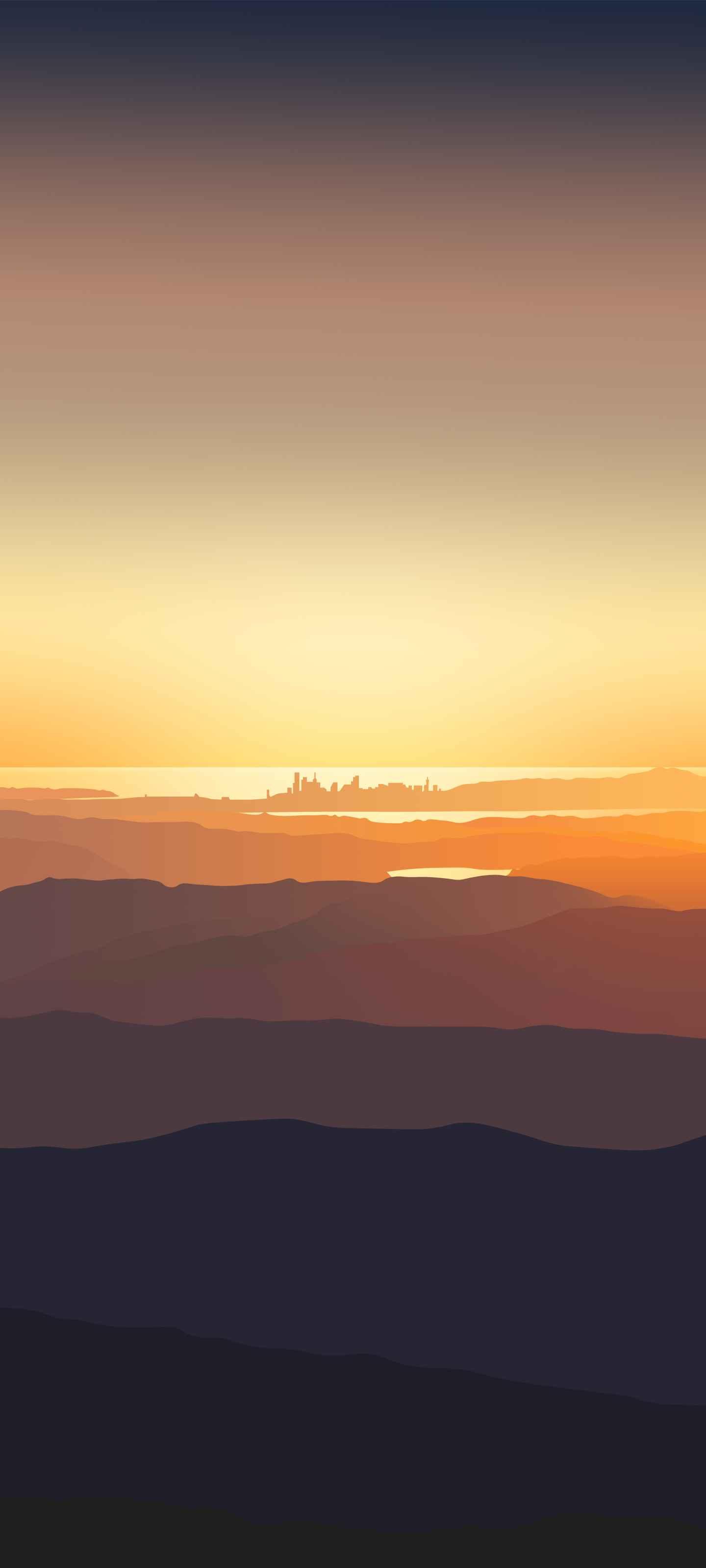 Sunset City iPhone Wallpaper