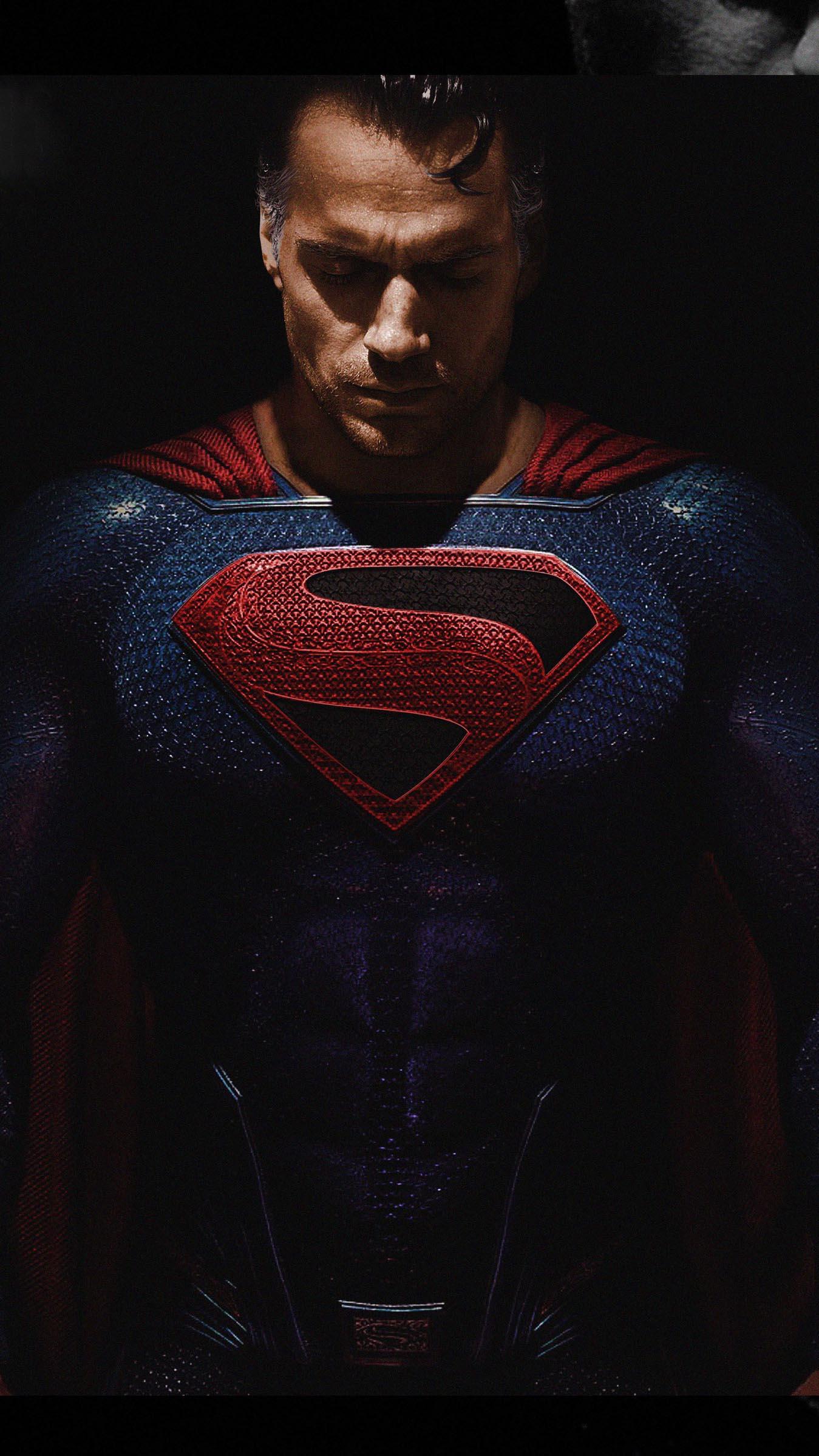 Superman Dark iPhone Wallpaper