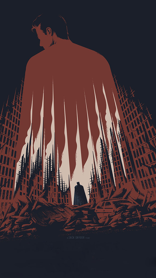 Superman vs Batman iPhone Wallpaper