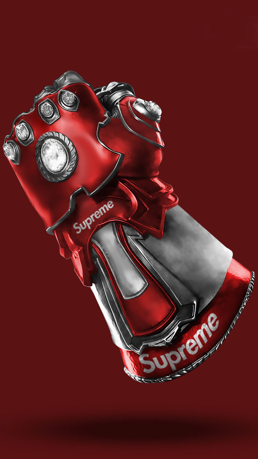 Supreme Infinity Glove iPhone Wallpaper