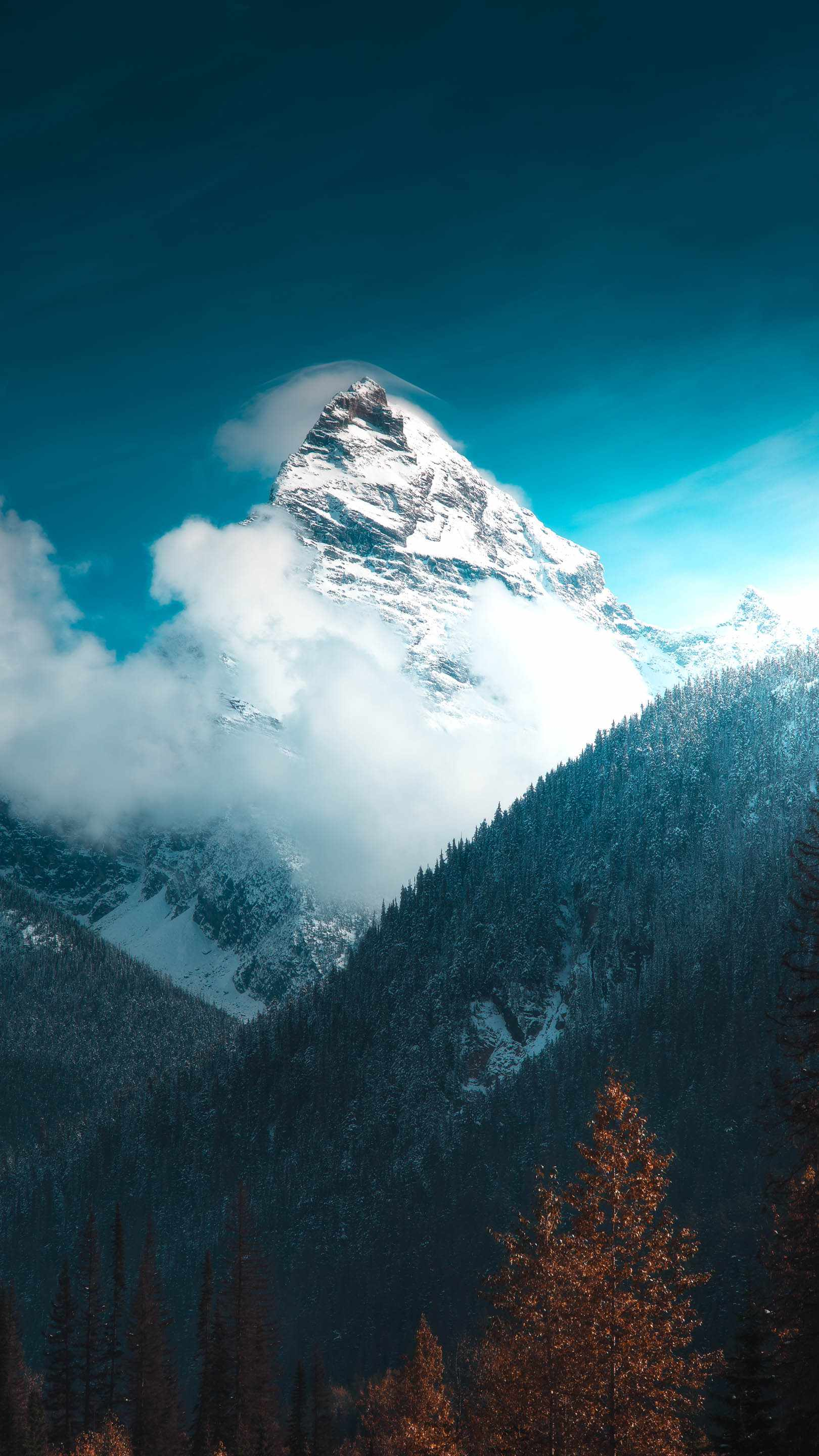 Swiss Alps Snow Mountains iPhone Wallpaper