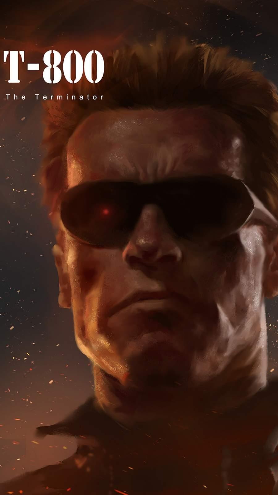 Terminator T 800 Arnold iPhone Wallpaper