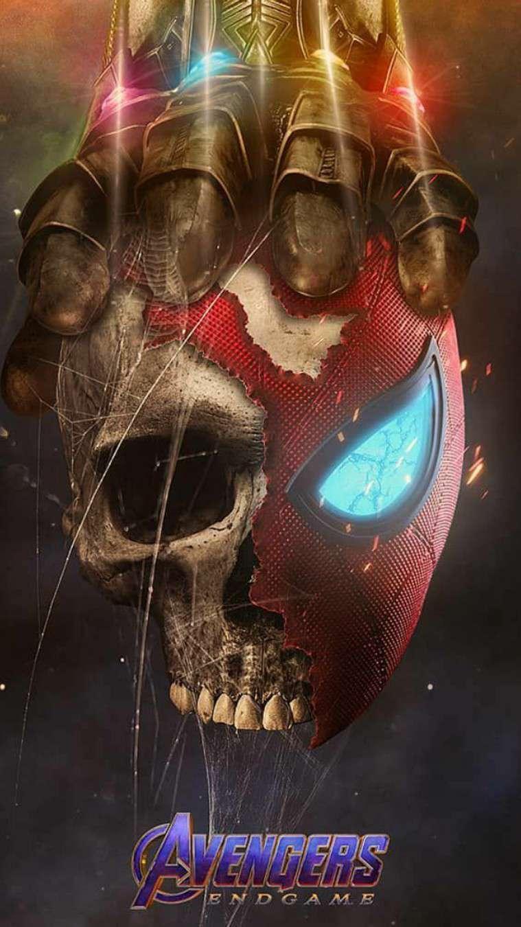 Thanos vs Spidey iPhone Wallpaper