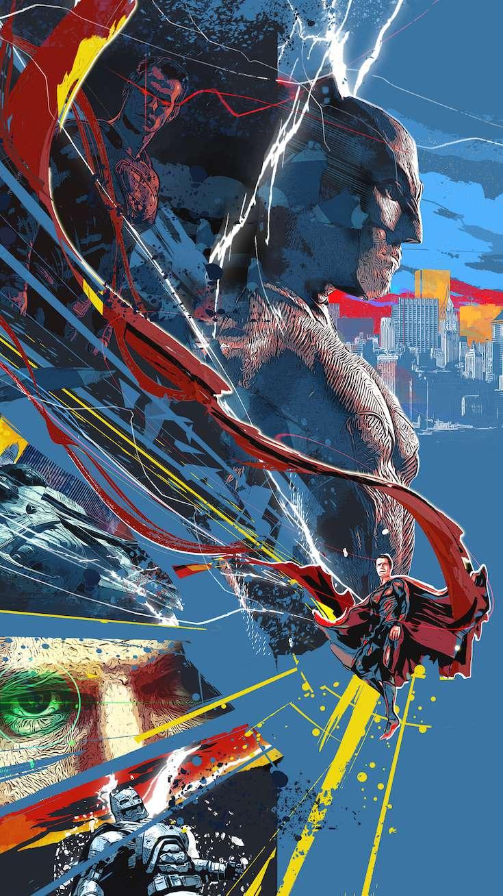 The Batman vs Superman iPhone Wallpaper