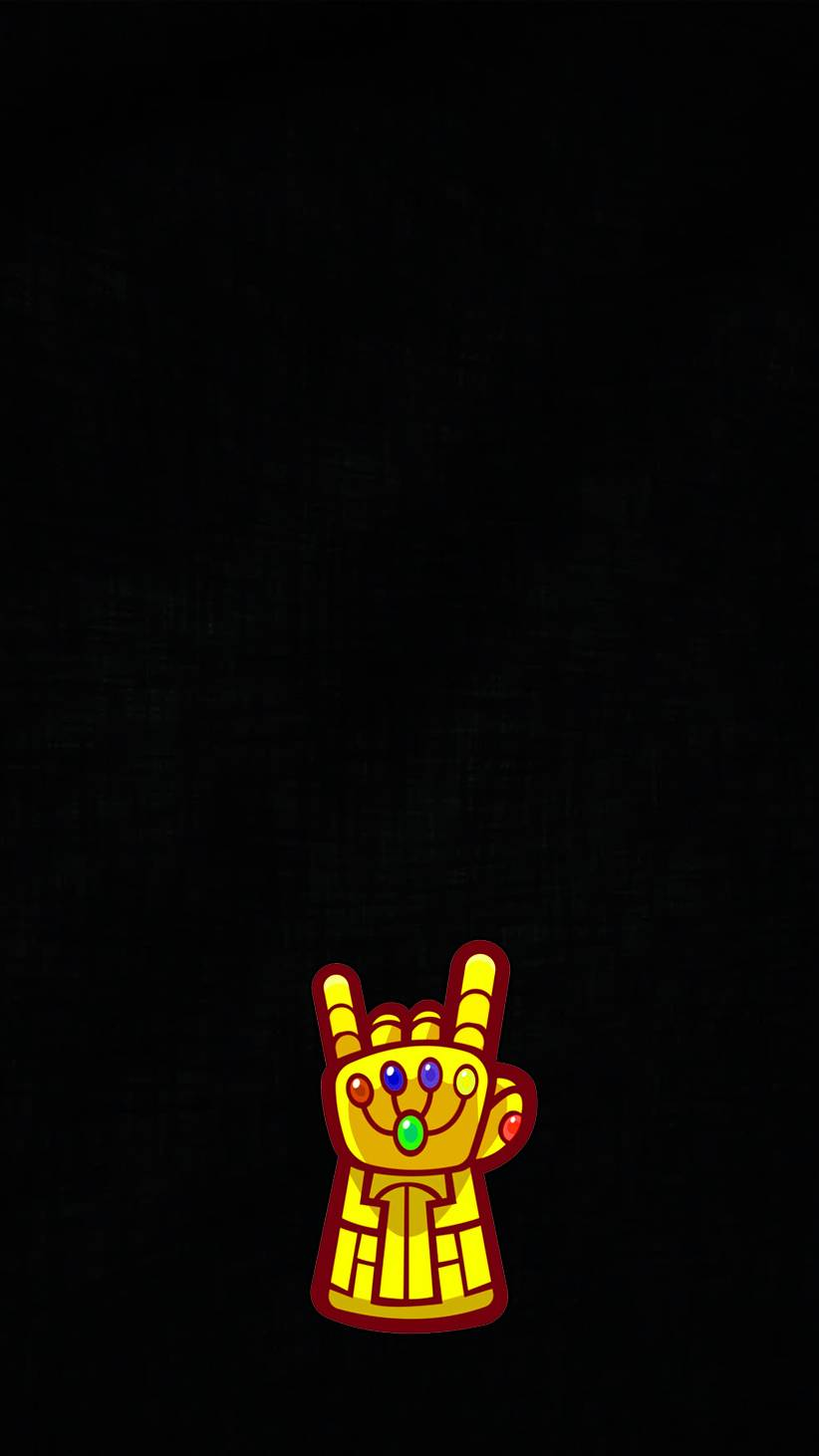 The Infinity Gauntlet Minimal iPhone Wallpaper