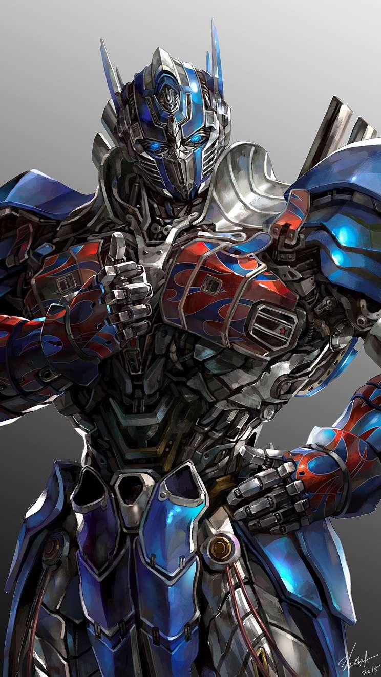 The Optimus Prime iPhone Wallpaper