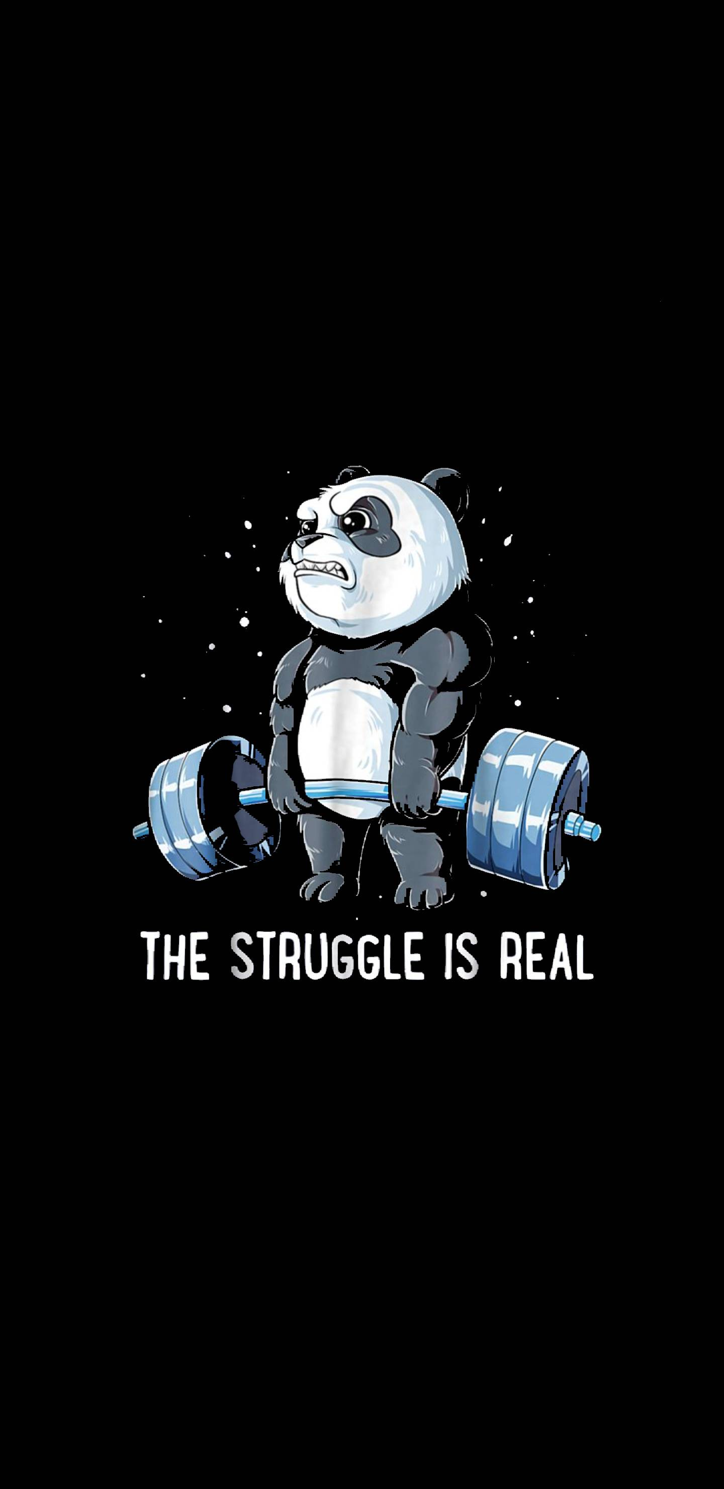 The Struggle is Real iPhone Wallpaper