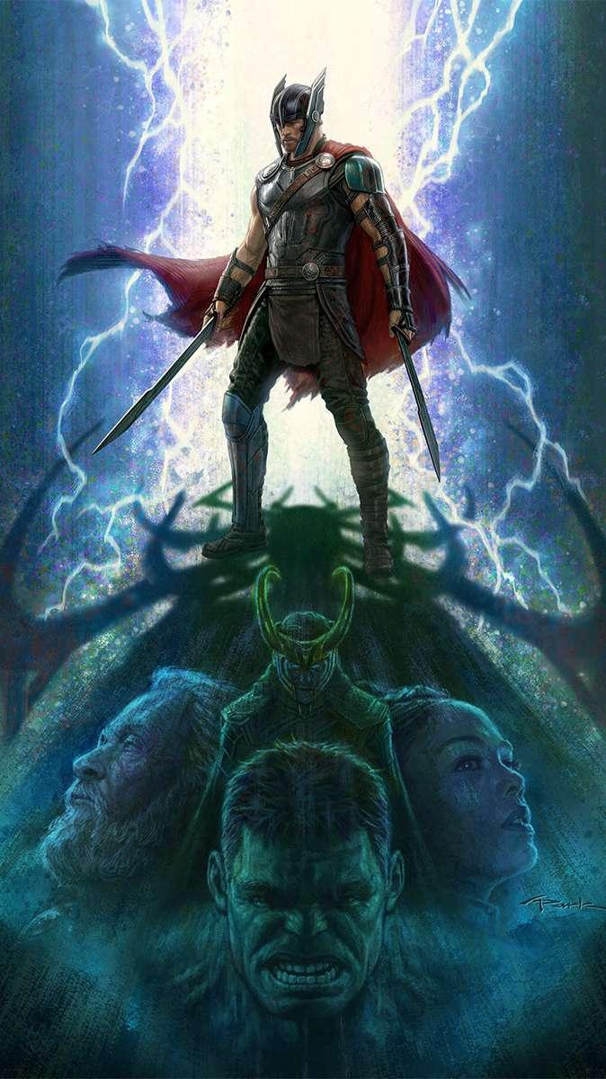 Thor Warrior iPhone Wallpaper