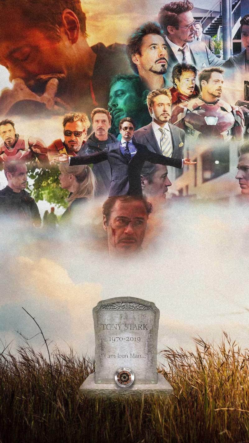 Tony Stark Cemetery iPhone Wallpaper