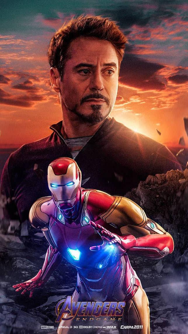 Tony Stark Endgame Hero iPhone Wallpaper