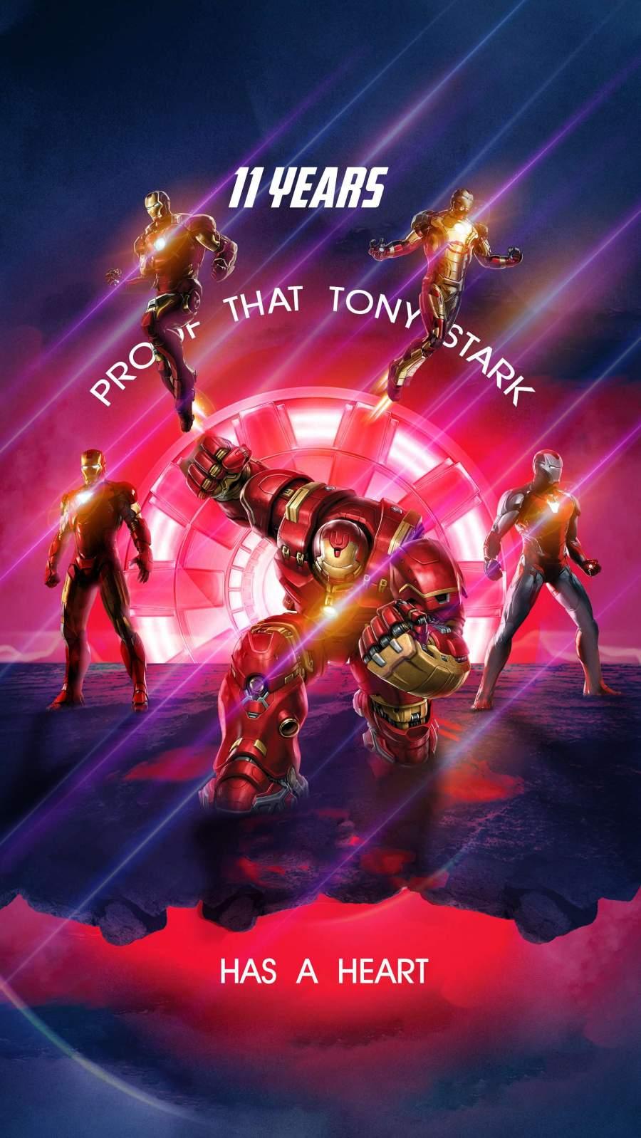 Tony Stark Has a Heart iPhone Wallpaper 1