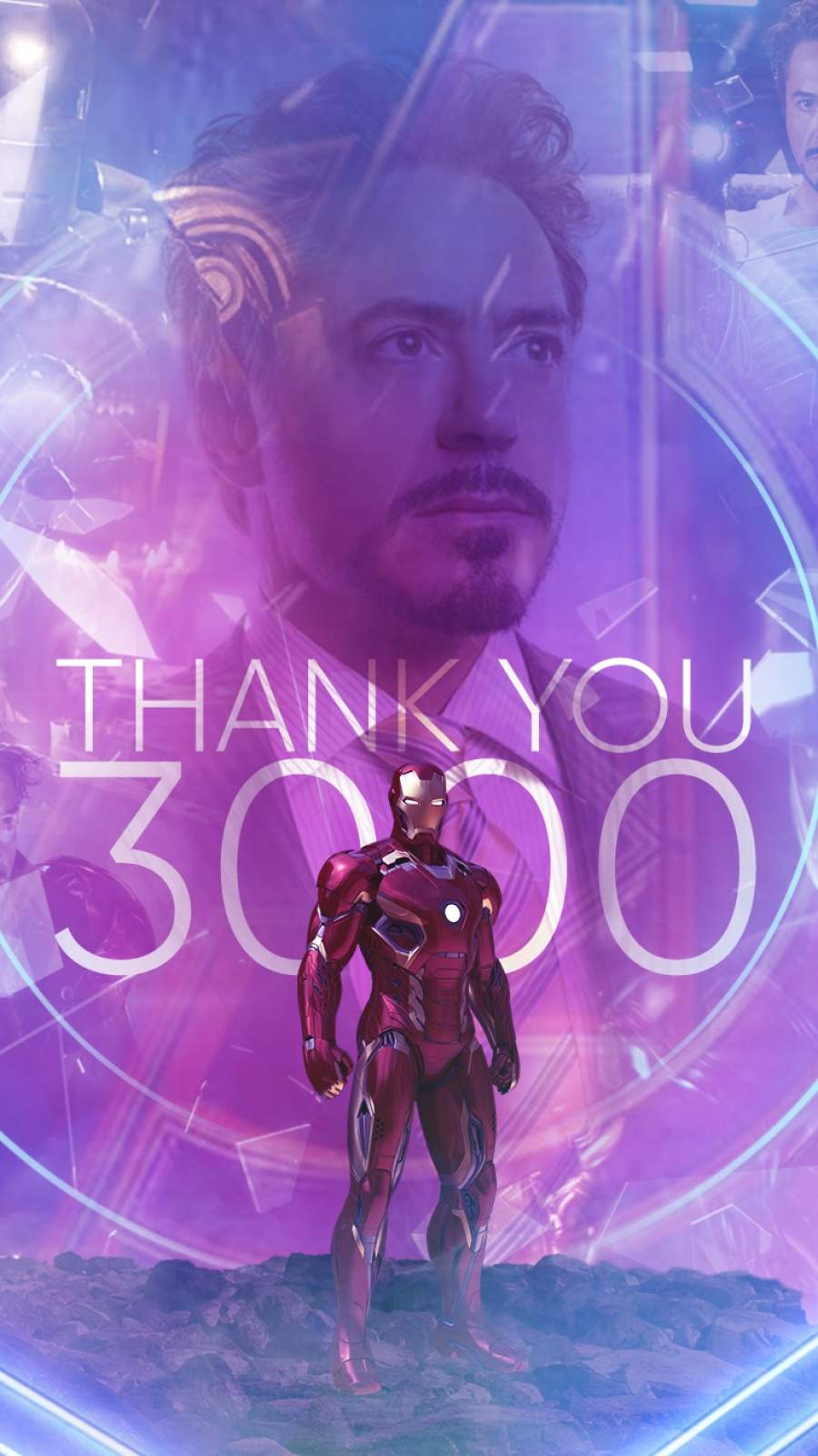 Tony Stark I Love You 3000 iPhone Wallpaper 1