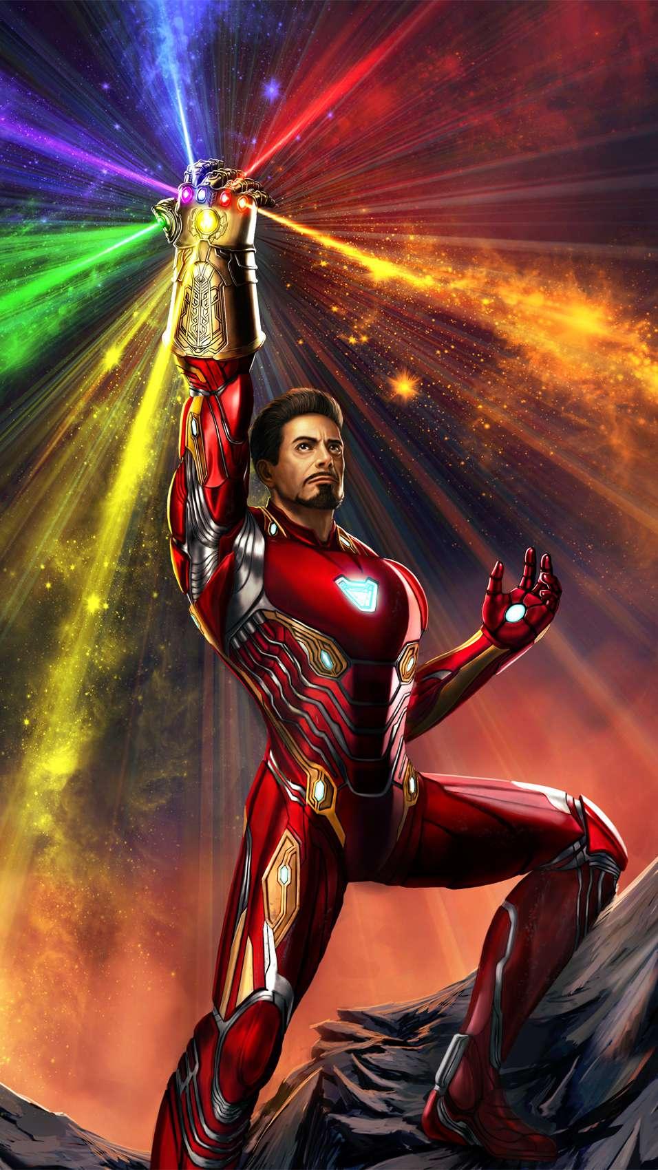Tony Stark Infinity Gauntlet iPhone Wallpaper