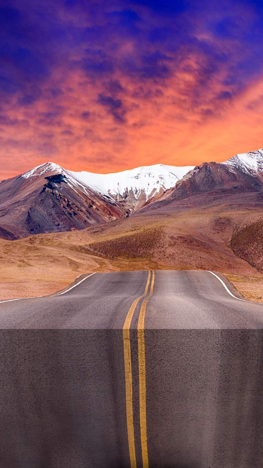 Vertical Road iPhone Wallpaper