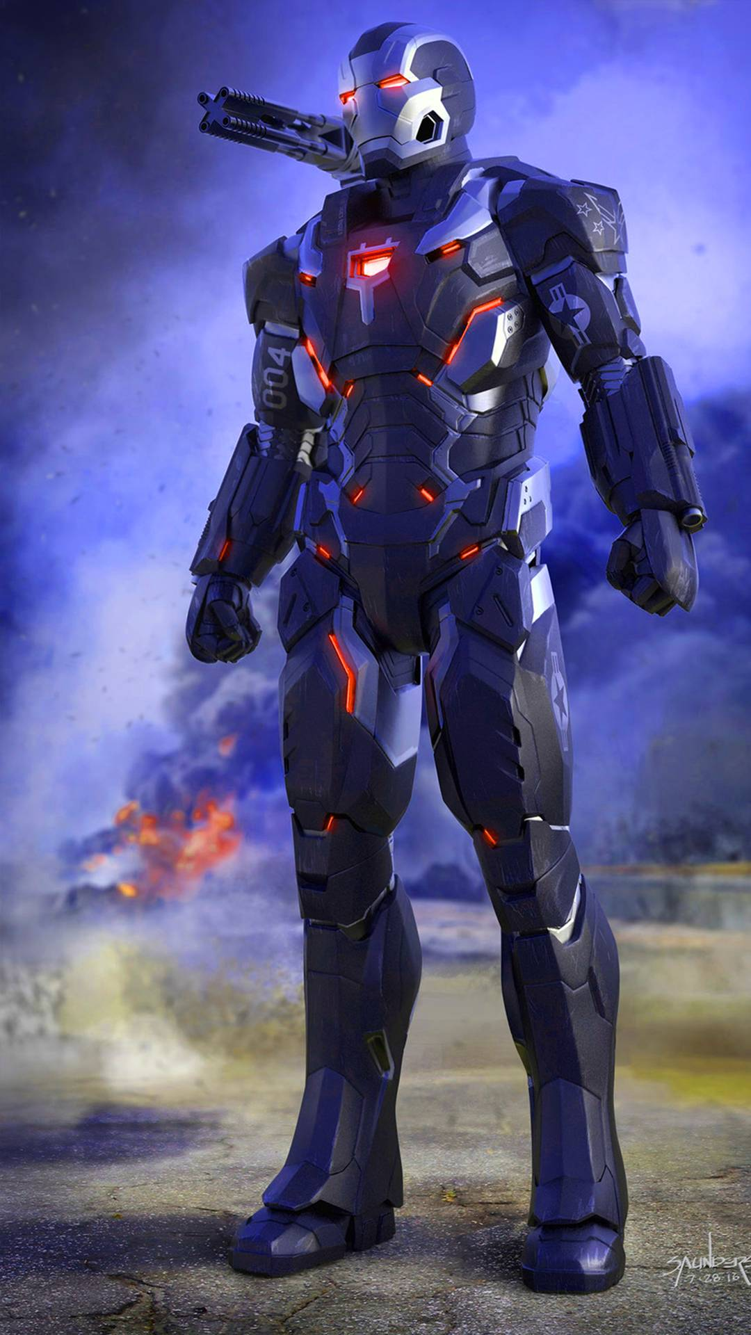 War Machine Endgame Armor iPhone Wallpaper