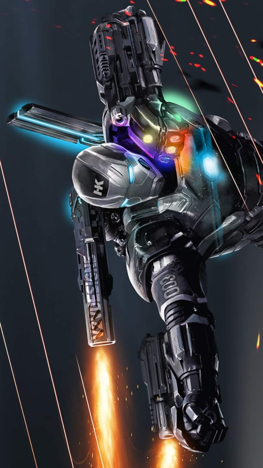 War Machine Infinity Stones iPhone Wallpaper