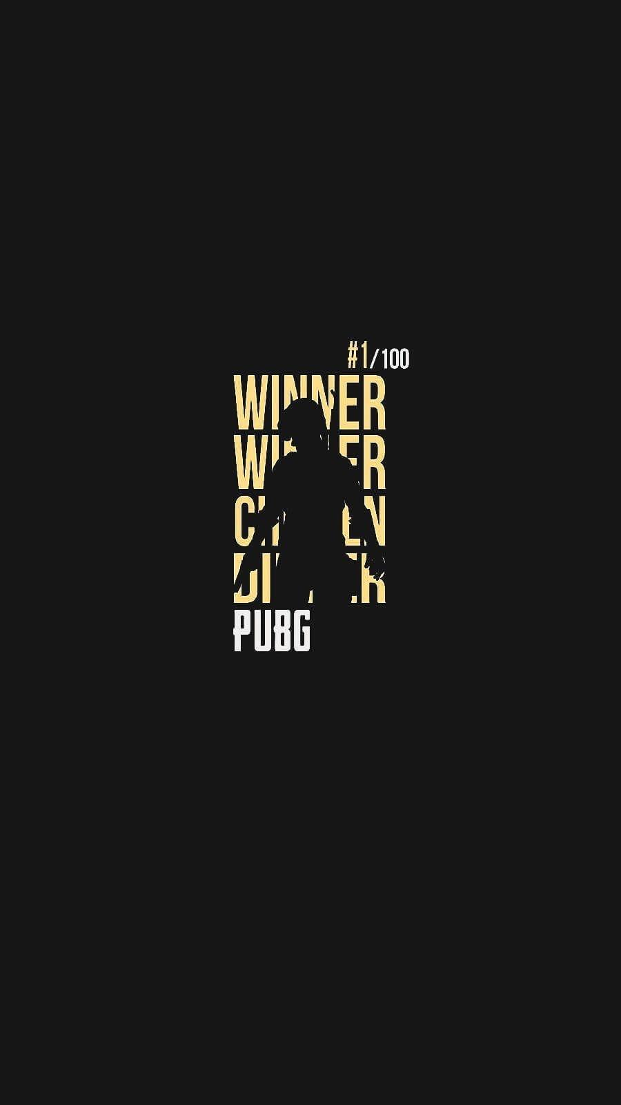 Winner Winner Chicken Dinner PUBG iPhone Wallpaper