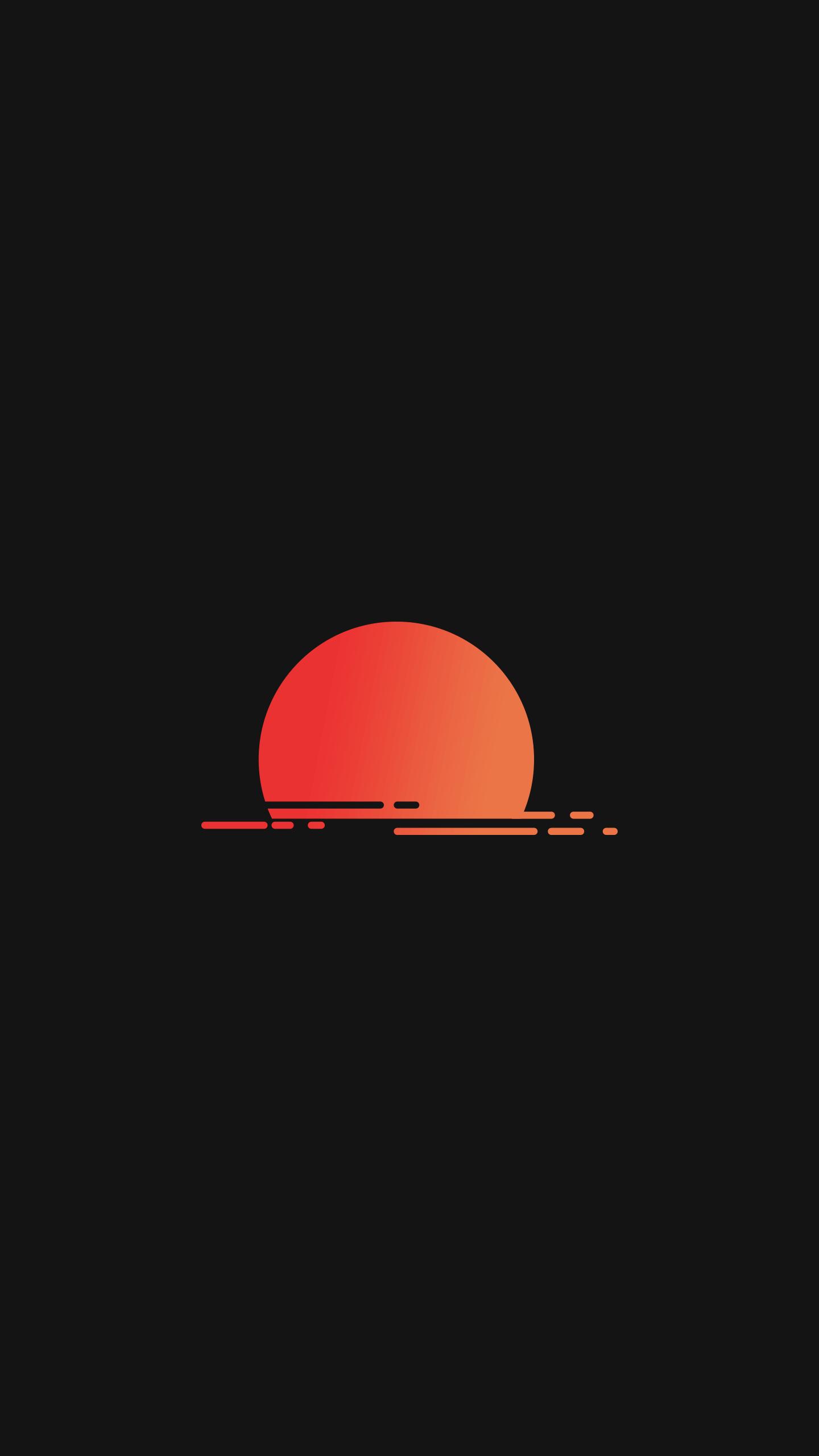 Amoled Sun iPhone Wallpaper