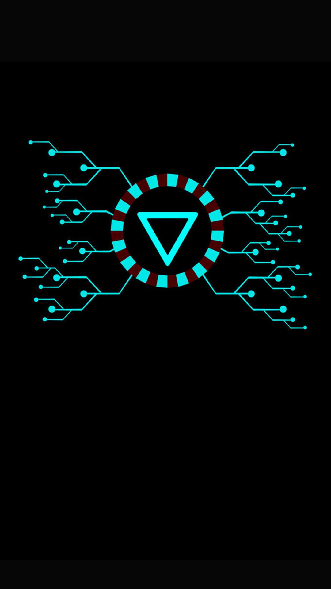 Arc Reactor Dark iPhone Wallpaper