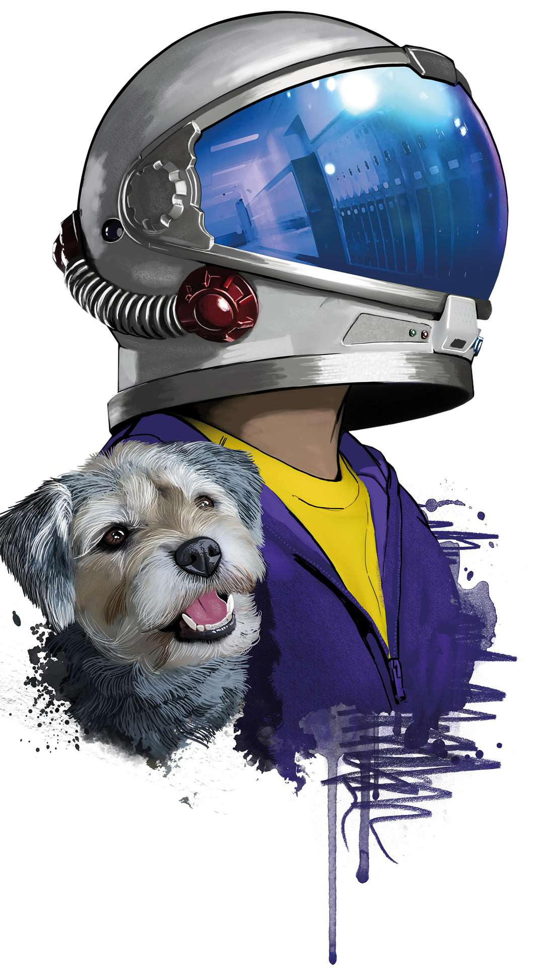 Astronaut with Dog iPhone Wallpaper
