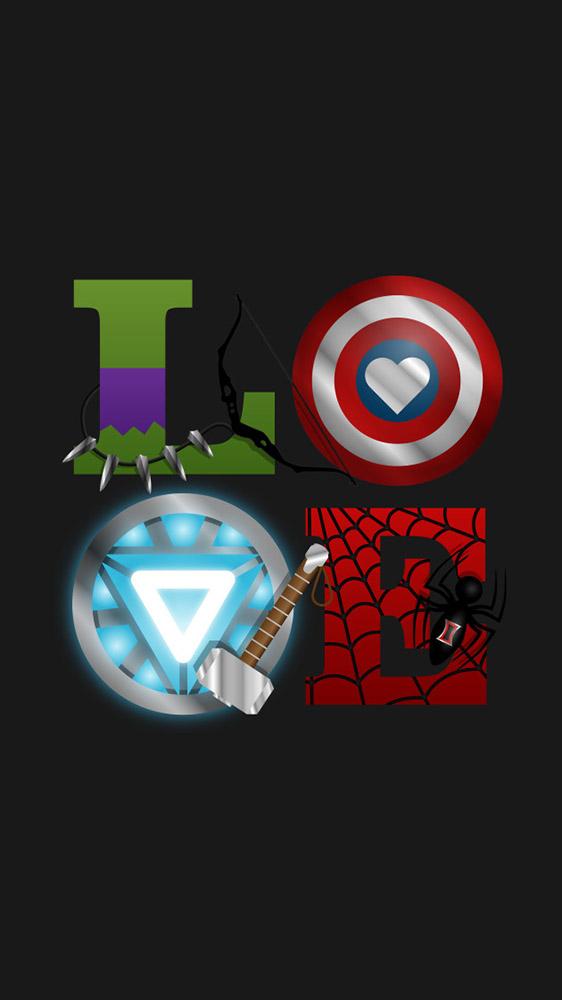 Avengers Love iPhone Wallpaper