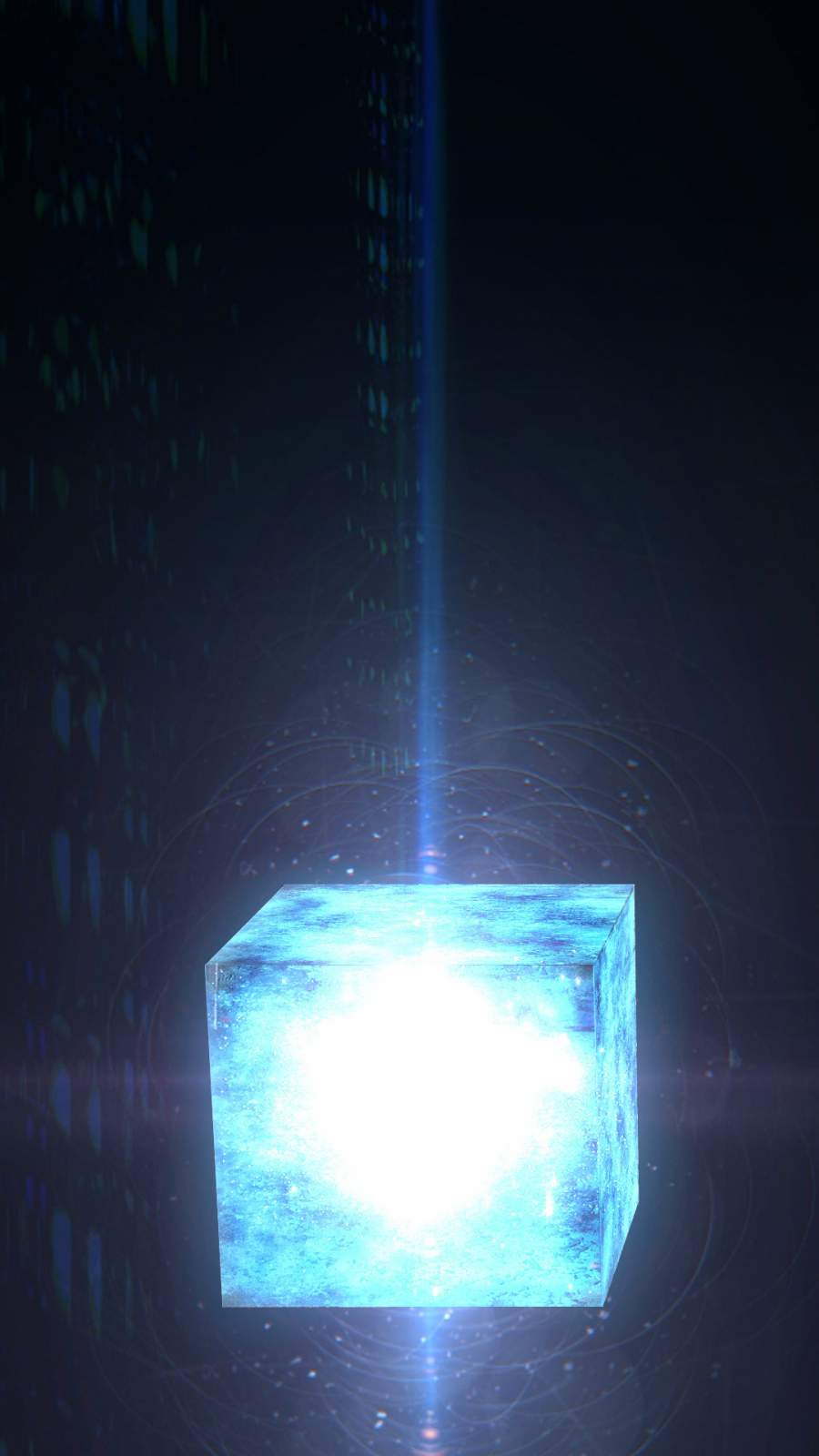 Avengers Tesseract Cube iPhone Wallpaper