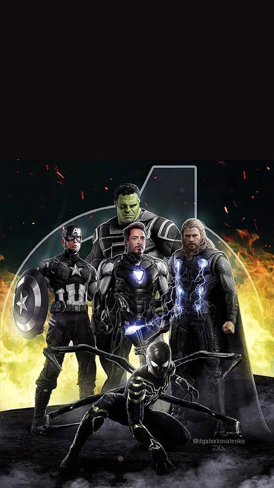 Black Avengers iPhone Wallpaper