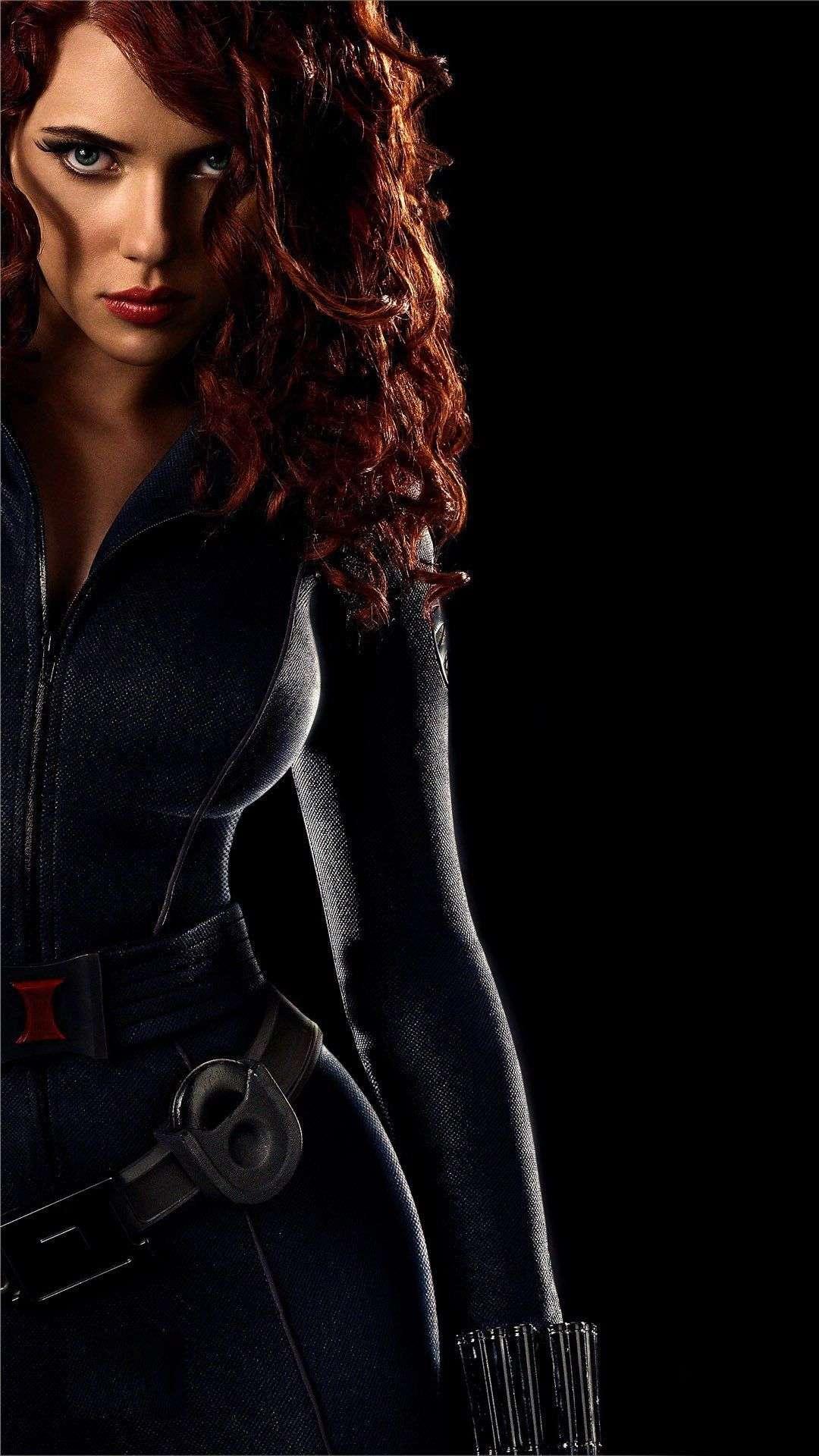 Black Widow Dark iPhone Wallpaper