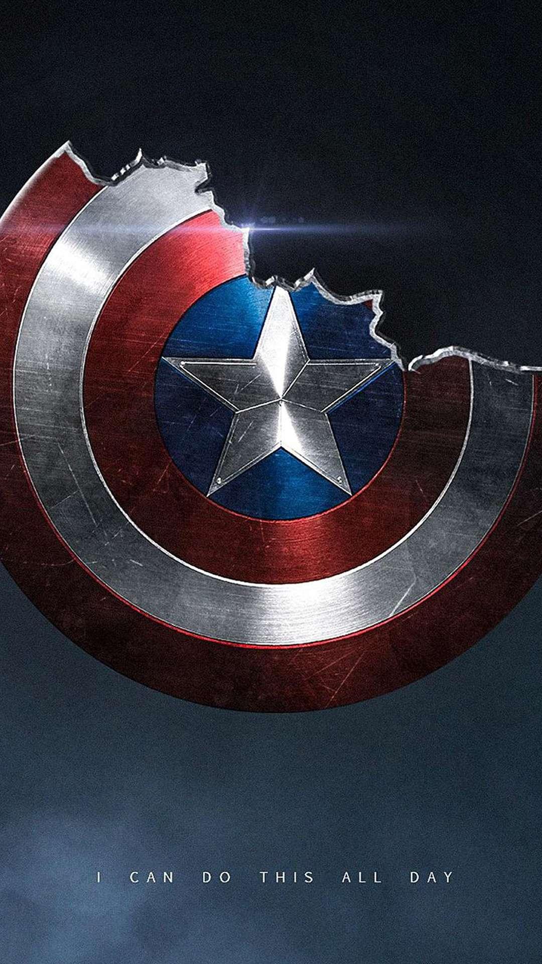 Broken Shield of Captain America iPhone Wallpaper