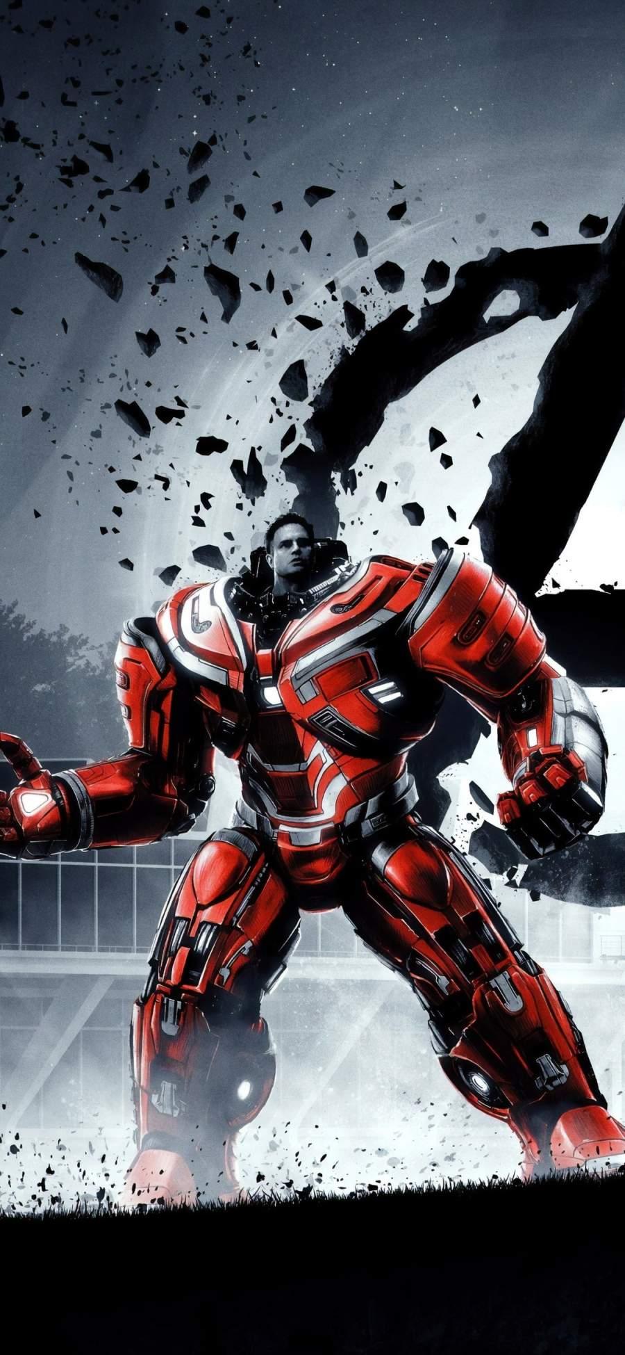 Bruce Banner in Hulkbuster iPhone Wallpaper