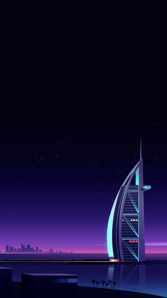 Burj Al Arab Jumeirah iPhone Wallpaper