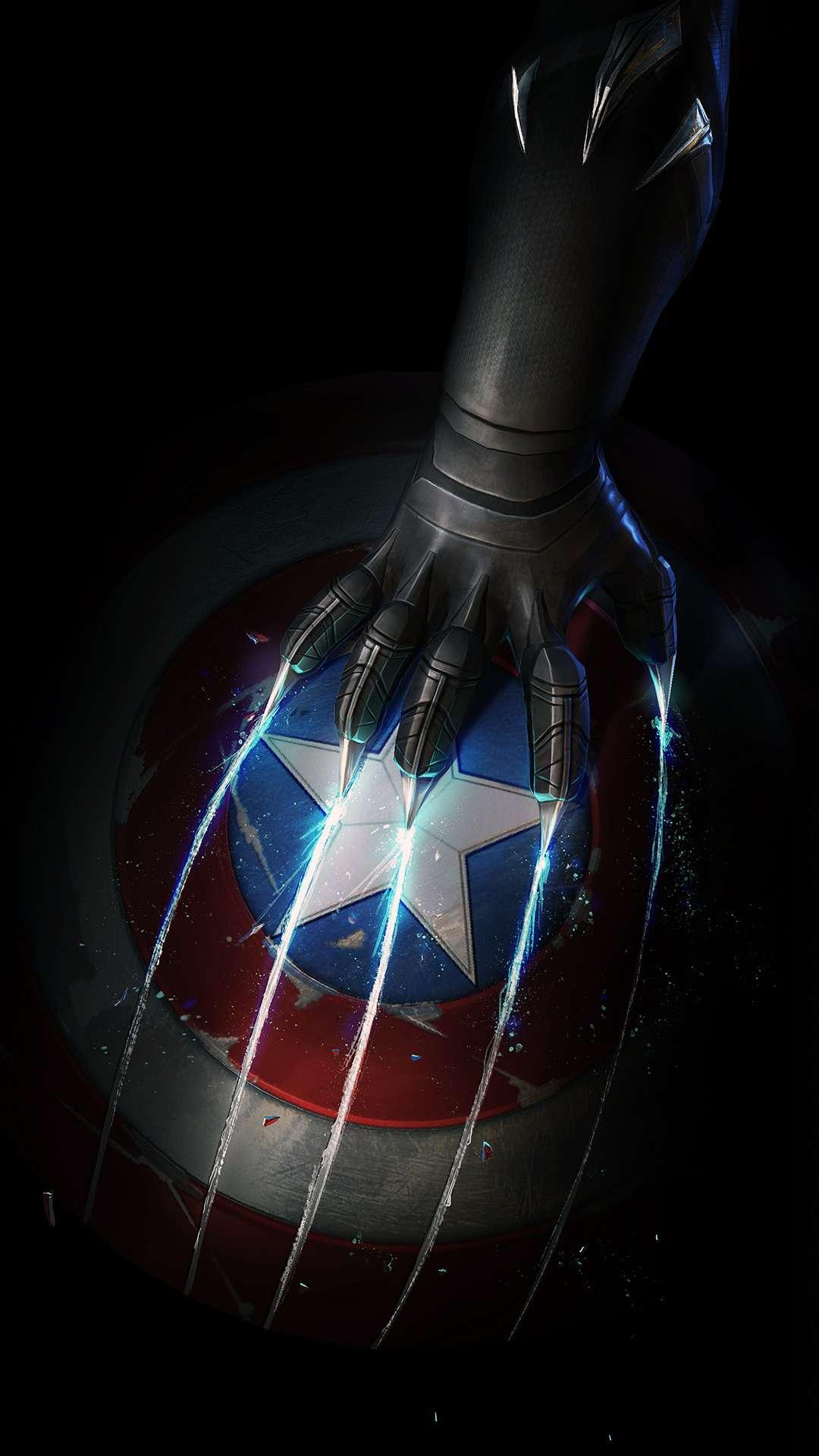 Captain America Amoled iPhone Wallpaper