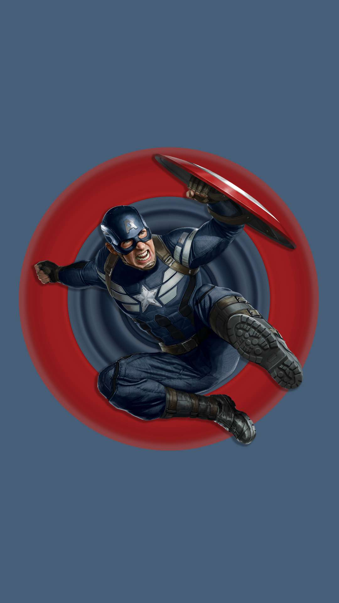 Captain America Endgame Action iPhone Wallpaper