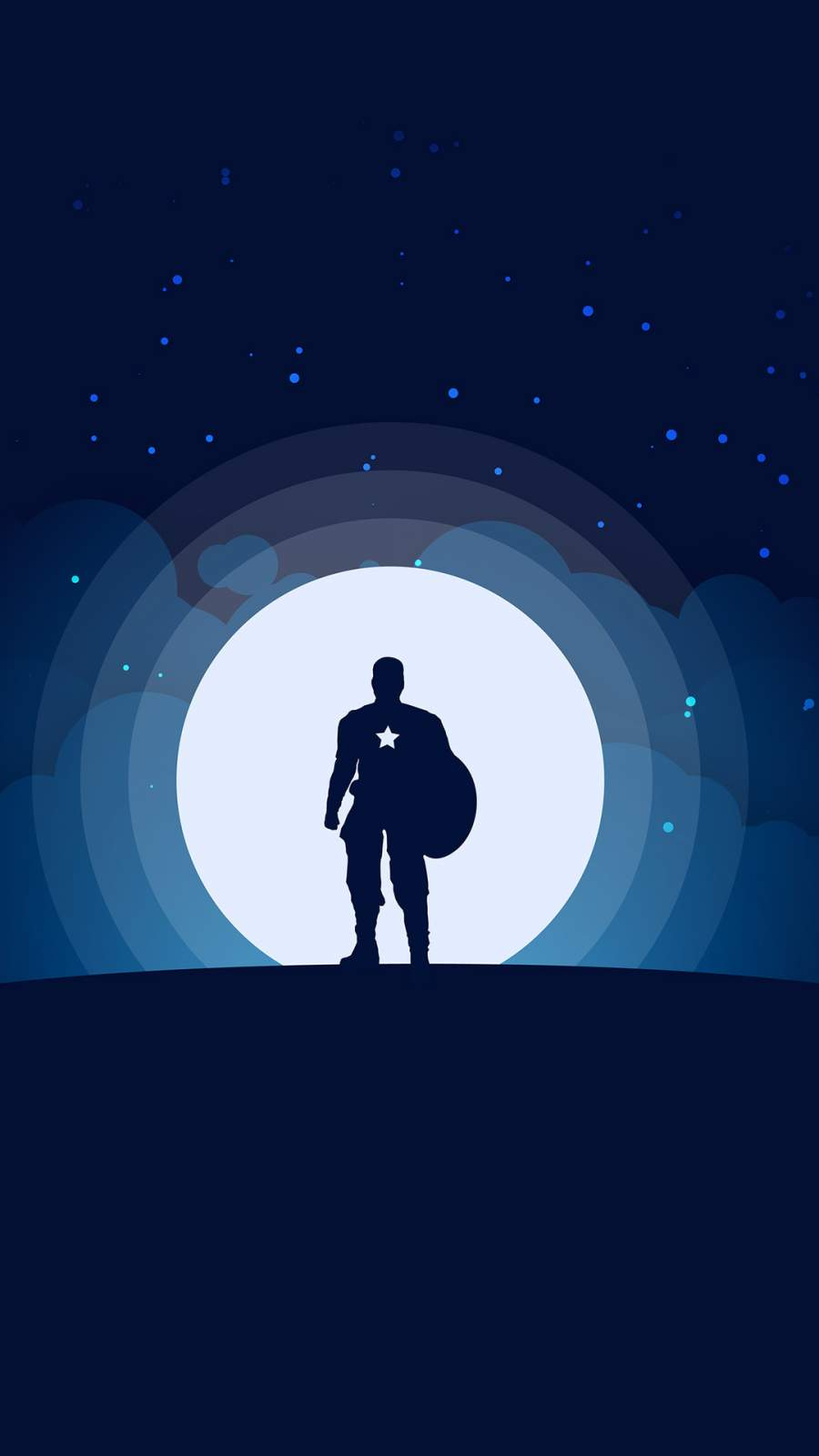 Captain America Minimal iPhone Wallpaper