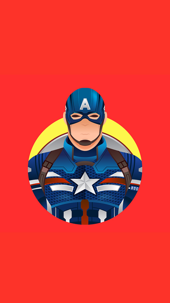 Captain America Minimalistic iPhone Wallpaper