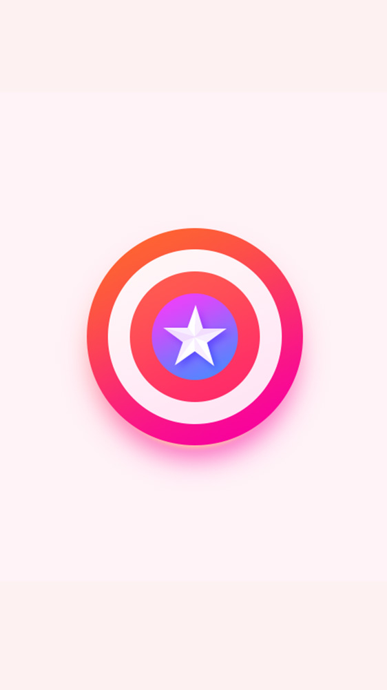 Captain America Shield Simple Background iPhone Wallpaper