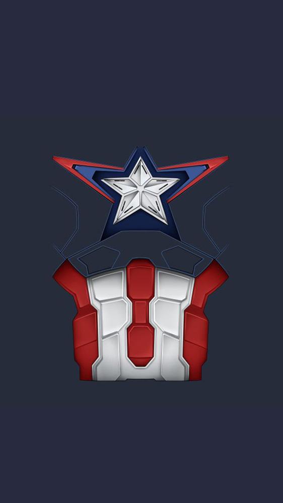Captain America Uniform iPhone Wallpaper