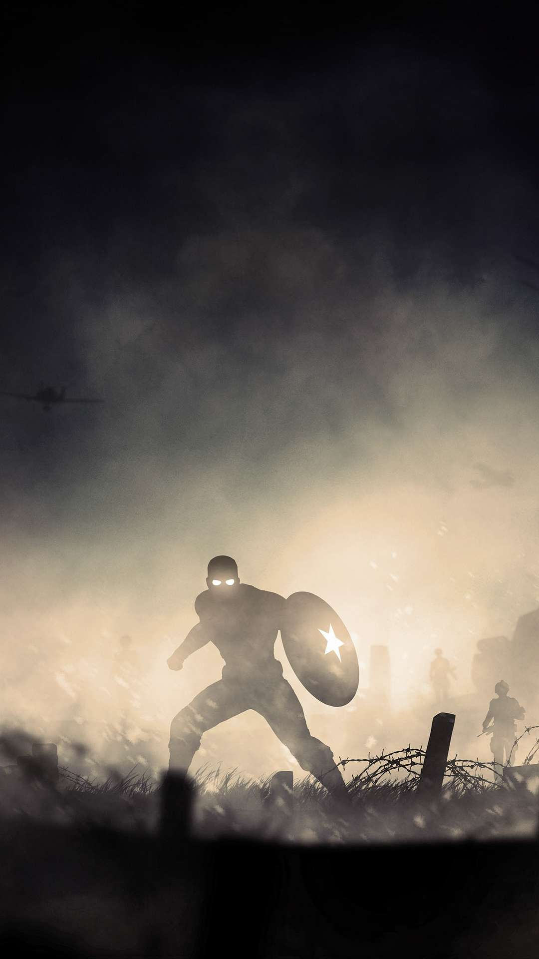 Captain America War Hero iPhone Wallpaper