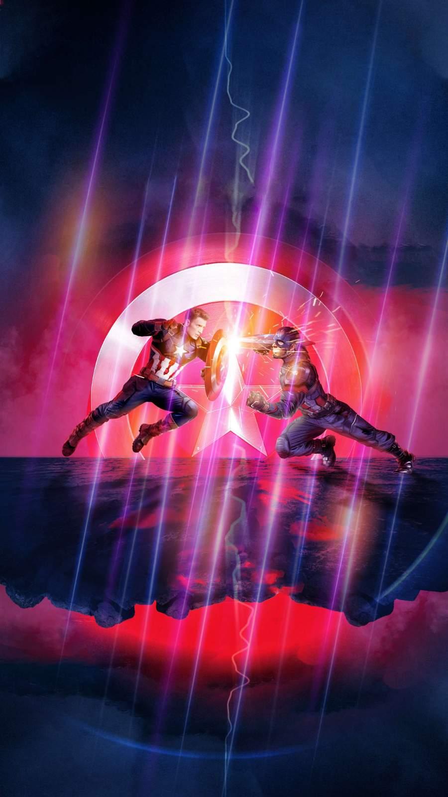 Captain vs Captain Avengers Endgame iPhone Wallpaper