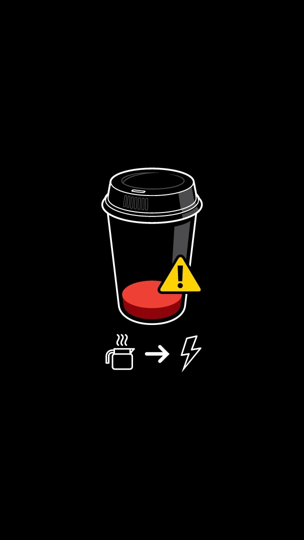 Coffee is My Fuel iPhone Wallpaper