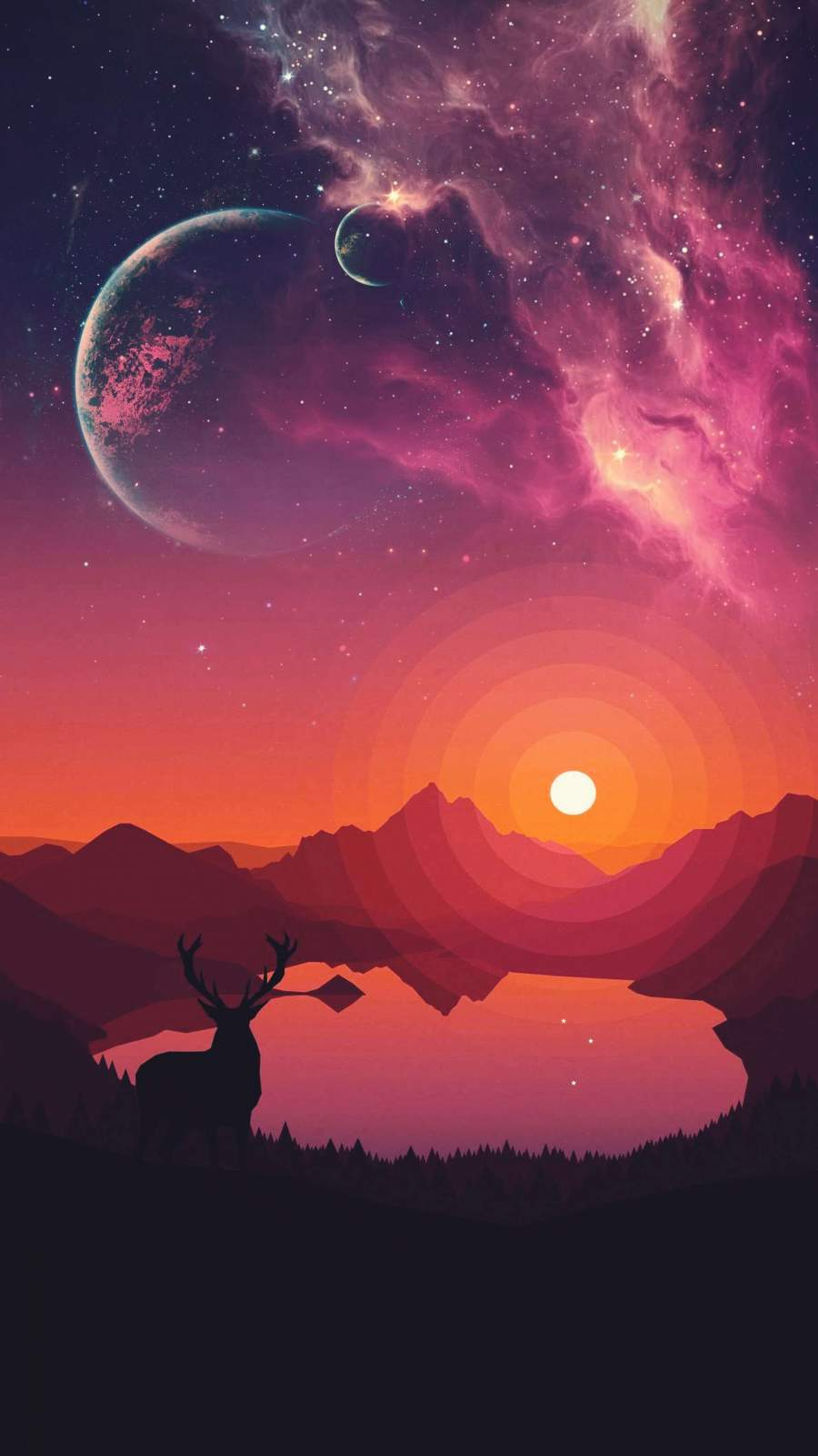 Crimson Sky iPhone Wallpaper