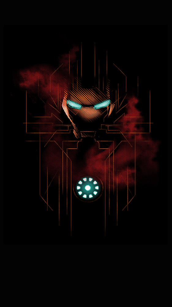 Dark Iron Man iPhone Wallpaper