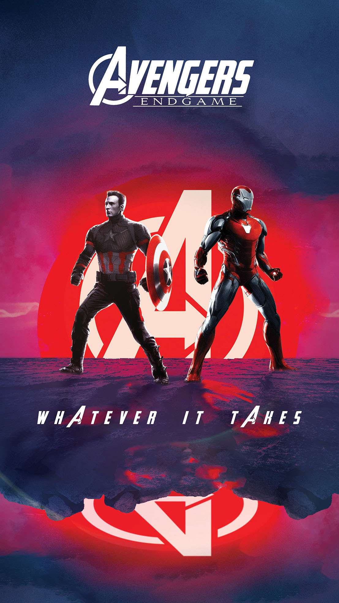 Endgame Captain and Iron Man Whatever it Takes iPhone Wallpaper