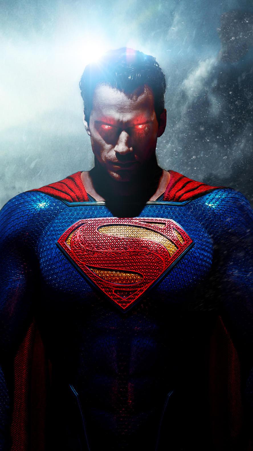 Evil Superman iPhone Wallpaper