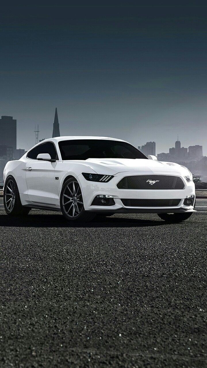 Ford Mustang White iPhone Wallpaper