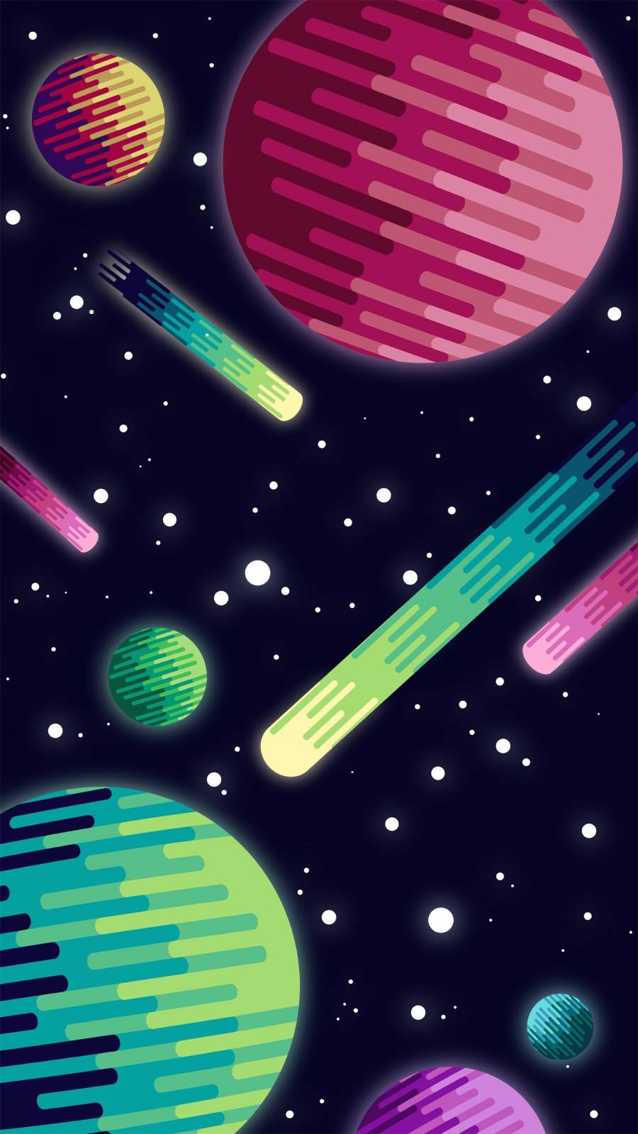 Galaxy far Away iPhone Wallpaper