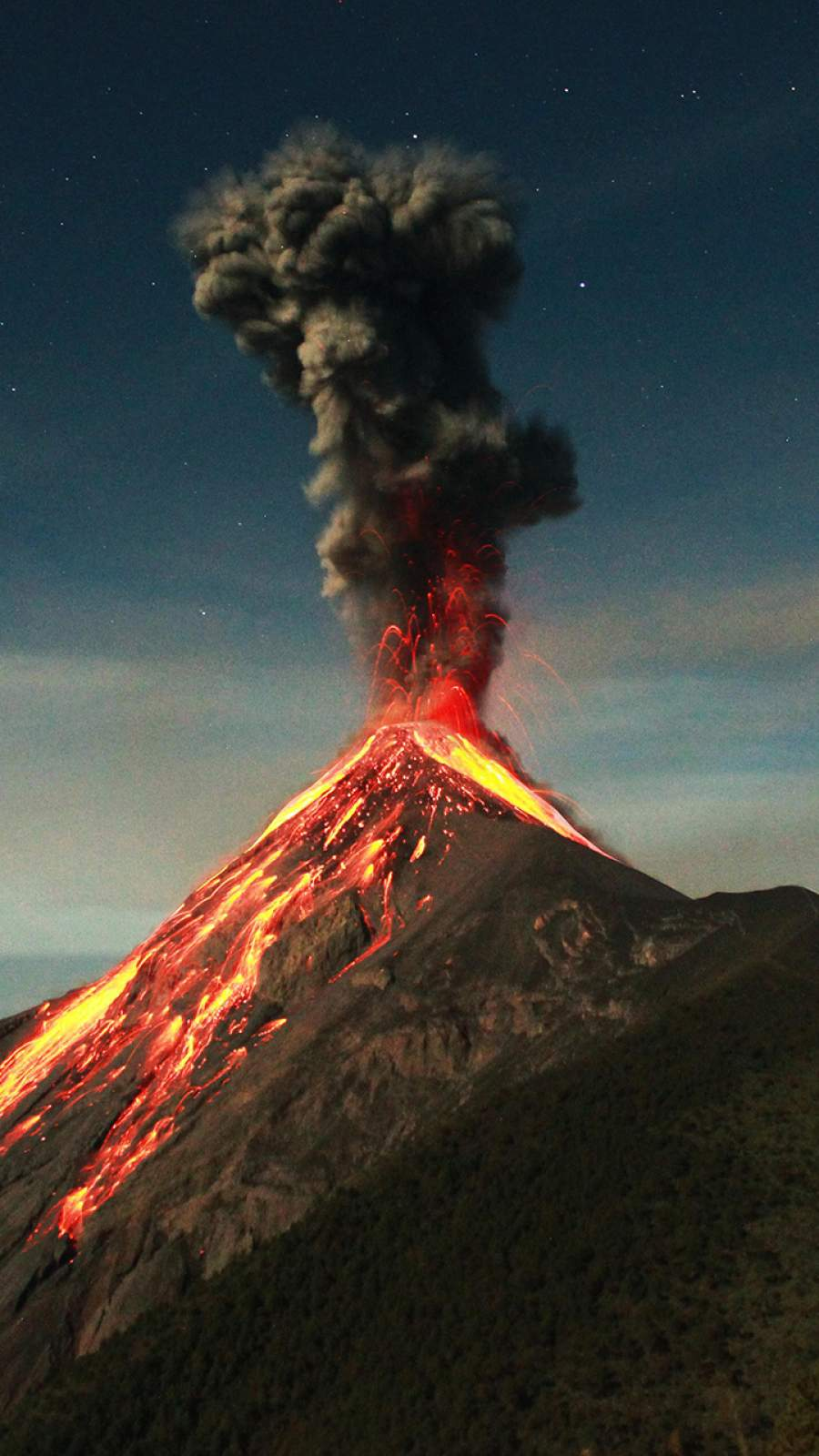 Guatemala Volcano Eruption iPhone Wallpaper